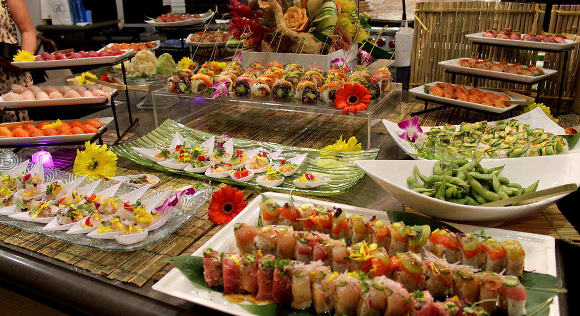 Kenji sushi private chef sushi catering for bar bat mitzvah for Food bar catering